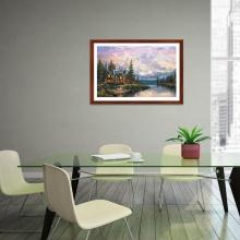 """Tranh trang trí """"Bên thự bên sông vắng"""" tranh phong cảnh W4078"""