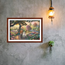 """Tranh trang trí """"Con đường xuân"""" tranh phong cảnh W4080"""