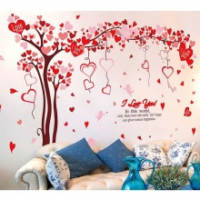 Decal dán tường cây tình yêu 3 PK542