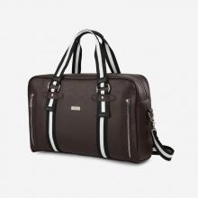Túi xách laptop du lịch unisex dáng chữ nhật phối dây sọc Idigo MB2-608-00