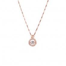 Mặt dây chuyền vàng hồng đính đá DOJI 14K 0819P-NAL630