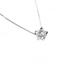 Mặt dây chuyền vàng trắng 14K đính đá DOJI 0819P-NAL632