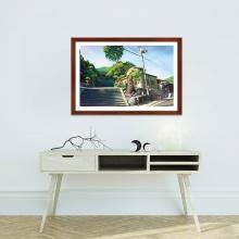 """Tranh trang trí """"Đường phố Nhật Bản"""" tranh phong cảnh W4091"""