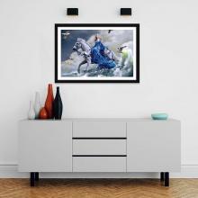 """Tranh trang trí """"Công chúa và bạch mã"""" tranh phong cảnh W4092"""