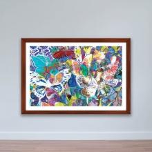 """Tranh trang trí """"Bướm sắc màu"""" tranh phong cảnh W4094"""