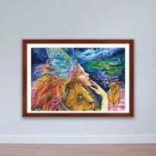 """Tranh trang trí """"Nữ thần thiên nhiên"""" tranh phong cảnh W4095"""