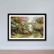 """Tranh trang trí """"Cây cầu kiểu Châu Âu"""" tranh phong cảnh W4100"""