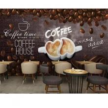 Tranh dán tường trang trí quán cà phê TC57 (kích thước: 100x150cm)