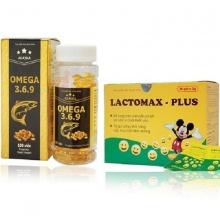 Bộ 2 Omega 369 bổ não & Lactomax - Plus