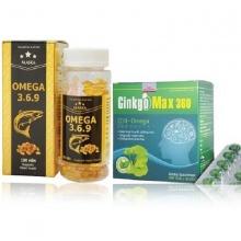 Bộ 2 Omega 369 bổ não và Ginkgo max 360 lưu thông máu