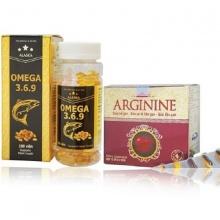 Bộ 2 Omega 369 bổ não và Arginine bổ gan