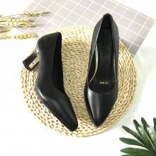 Giày cao gót nữ cao 5cm trơn gót vuông 5CMTGK