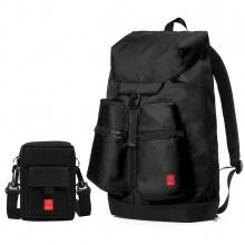 Combo balo thời trang nam Glado wander GWD004 (màu đen) và túi đựng điện thoại GAR002 (màu đen)