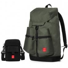 Combo balo thời trang nam Glado wander GWD004 (màu xanh rêu) và túi đựng điện thoại GAR002 (màu đen)