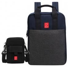 Combo balo thời trang Glado commuter GCO001 (màu xám) và túi đựng điện thoại GAR002 (màu đen)