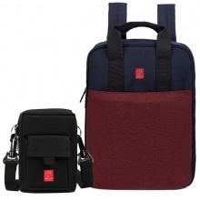 Combo balo thời trang Glado commuter GCO001 (màu đỏ) và túi đựng điện thoại GAR002 (màu đen)