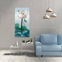 Tranh hoa sen trắng thanh tao W3960
