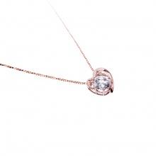 Mặt dây chuyền vàng hồng đính đá DOJI 14K 0819P-LAL446