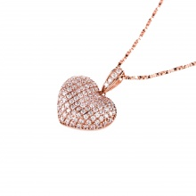 Mặt dây chuyền vàng hồng đính đá DOJI 14K 0819P-LAL070