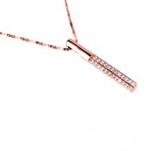 Mặt dây chuyền vàng hồng đính đá DOJI 14K 0819P-LAL071