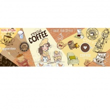 Tranh dán tường trang trí quán cà phê TC54 (kích thước: 100x150cm)