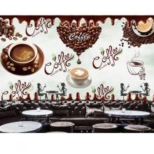 Tranh dán tường trang trí quán cà phê TC53 (kích thước: 100x150cm)