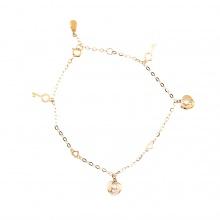 Lắc tay vàng đính đá DOJI 18K 0819B-LAL324