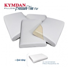 Combo 4 gối  cao su thiên nhiên Kymdan Pillow PressureFree Air 60 x 38 x 8,5 cm - tặng 1 gối cùng loại