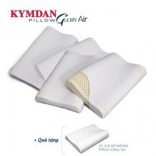 Combo 4 gối Kymdan Pillow Glory Air 60 x 38 x 8,5 - 5,5 - 8 cm - Tặng 1 gối
