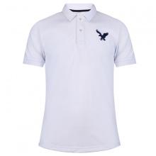Áo thun nam có cổ polo dokafashion, áo logo thêu rất sắc xảo màu trắng