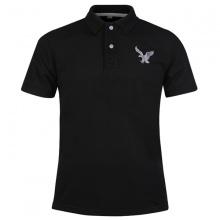 Áo thun nam có cổ polo dokafashion, áo logo thêu rất sắc xảo màu đen