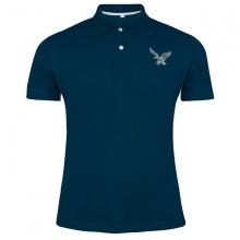 Áo thun nam có cổ polo dokafashion, áo logo thêu rất sắc xảo màu xanh cổ vịt