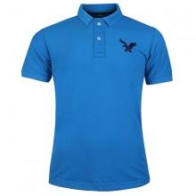 Áo thun nam có cổ polo dokafashion, áo logo thêu rất sắc xảo màu xanh dương