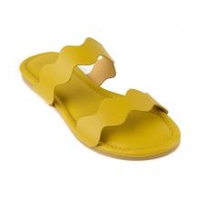 Dép da nữ thời trang êm chân SUNDAY DD52 vàng
