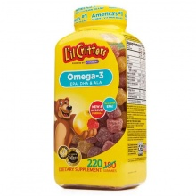 Kẹo bổ sung vitamin cho bé 220 viên - Omega - 3 DHA L'il Critters