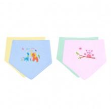 Combo 4 khăn choàng cổ tam giác in màu Mintuu