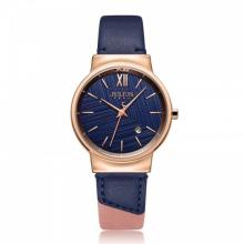 Đồng hồ nữ Julius Hàn Quốc JA-1181D dây da (xanh)