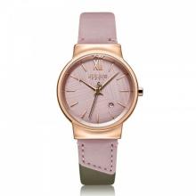 Đồng hồ nữ Julius Hàn Quốc JA-1181C dây da (hồng)