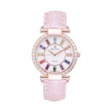 Đồng hồ nữ chính hãng Royal Crown 4604 dây da hồng vỏ vàng hồng