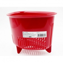 Rổ nhựa hình tam giác có chân màu trắng và màu đỏ