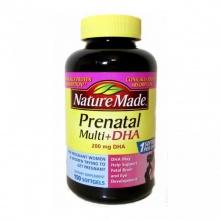 Thực phẩm chức năng bồi bổ bà bầu Mỹ 150 viên - Nature Made® Prenatal Multi DHA