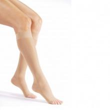 Vớ/tất y khoa gối JOBST Ultrasheer - siêu mỏng điều trị giãn tĩnh mạch chân, 20-30 mmHg, size M (hở ngón, màu da)