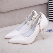 Giày dép nữ cao gót - giày dép nữ cao gót nhọn 9cm tặng kèm lắc chân