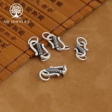 Charm bạc móc khóa chữ S liên kết vòng tay, dây chuỗi 11mm