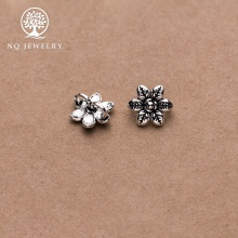 Charm bạc khóa liên kết vòng tay, dây chuỗi hình bông hoa