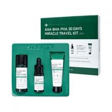 Bộ kit 3 món giảm mụn Thần Kỳ Some By Mi AHA - BHA - PHA 30 Days Miracle Kit (Toner, Serum, Cream)