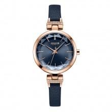Đồng hồ nữ Julius Hàn Quốc JA-1182 dây da mặt lăng kính