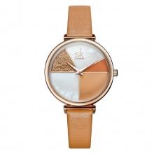 Đồng hồ nữ chính hãng Shengke Korea 11K0109L-02 Nâu