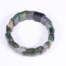 Vòng tay chalcedony đa sắc bản 20x20mm - Ngọc Quý Gemstones