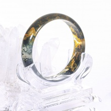 Vòng băng ngọc thủy tảo huyết ni 62 mệnh hỏa, mộc - Ngọc Quý Gemstones
